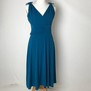 AA Studio | fit and flare navy blue dress